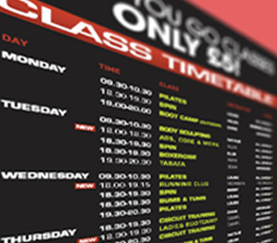 Chris Jewkes Class Timetable